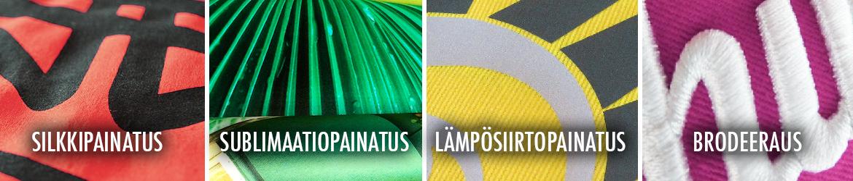 Oikea-painatus-silkkipainatus-sublimaatiopainatus-lämpösiirtopainatus-brodeeraus-t-paita-huppari-pelipaita-kevyttoppatakki-pipo
