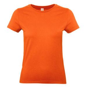 BC-E190-Naisten-Puuvilla-T-Paita-Orange