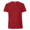 Fruit-Of-The-Loom-Ringspun-Premium-Tee-Miesten-Puuvilla-T-Paita-Red