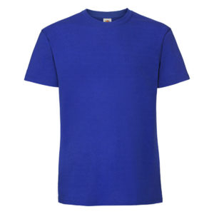 Fruit-Of-The-Loom-Ringspun-Premium-Tee-Miesten-Puuvilla-T-Paita-Royal