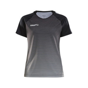 Craft Pro Control Stripe Jersey Women-Black-Platinum
