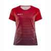 Craft Pro Control Stripe Jersey Women-Bright Red - Navy
