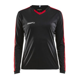 Craft Progress Jersey Contrast LS Women-Black-Bright Red