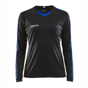 Craft Progress Jersey Contrast LS Women-Black-Club Cobolt