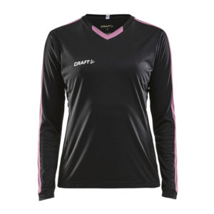 Craft Progress Jersey Contrast LS Women-Black-Pop