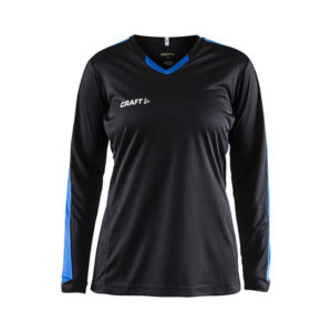Craft Progress Jersey Contrast LS Women-Black-Royal Blue