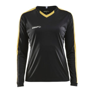 Craft Progress Jersey Contrast LS Women-Black-Sweet Yellow
