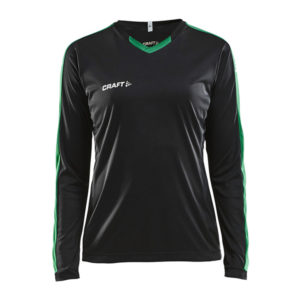 Craft Progress Jersey Contrast LS Women-Black-Team-Green
