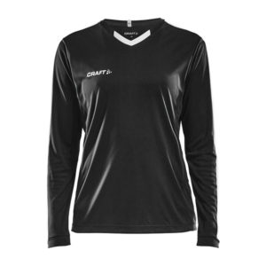 Craft Progress Jersey Contrast LS Women-Black-White