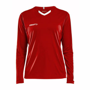 Craft Progress Jersey Contrast LS Women-Bright Red-White