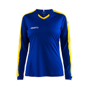 Craft Progress Jersey Contrast LS Women-Club Cobolt - Sweden Yellow
