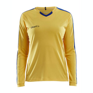 Craft Progress Jersey Contrast LS Women-Sweden Yellow -Club Cobolt