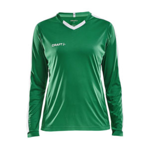 Craft Progress Jersey Contrast LS Women-Team Green - White