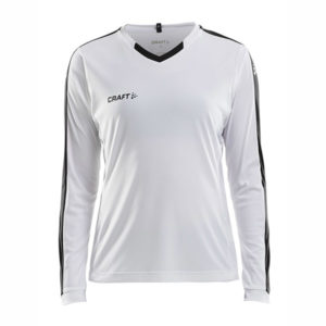 Craft Progress Jersey Contrast LS Women-White-Black