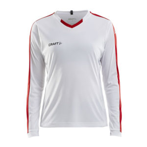 Craft Progress Jersey Contrast LS Women-White-Bright Red