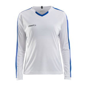 Craft Progress Jersey Contrast LS Women-White-Royal Blue