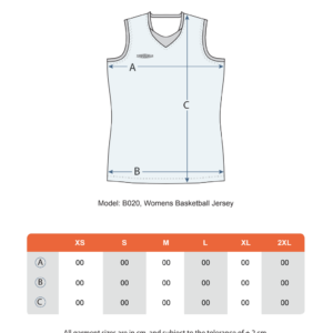 Teamshield-Essential-Basket-Women-Sublimation-Shirt-Jersey-Custom-Print-Name-Number-Size-Chart