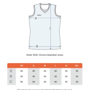 Teamshield-Essential-Basket-Women-Sublimation-Shirt-Jersey-Custom-Print-Name-Number-Size-Chart