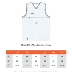 Teamshield-Essential-Men-Unisex-Sublimation-Basket-Basketball-Shirt-Jersey-Custom-Print-Name-Number-Size-Chart