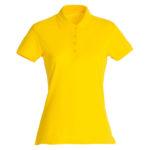 Clique-Basic-Polo-Ladies-Naisten-Pikeepaita-Kirkas-Keltainen