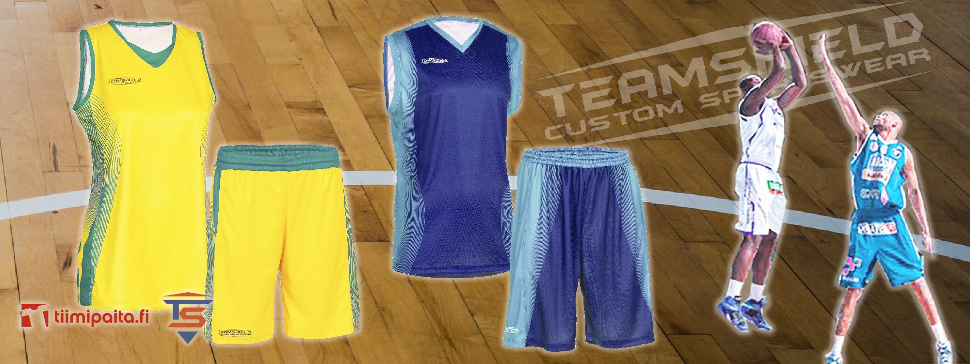 TEAMSHIELD-Essential-Basket-Koripallo-Sublimaatio-Peliasu-Pelipaita-Shortsit-Omalla-Numerolla-Logolla-Painatuksella