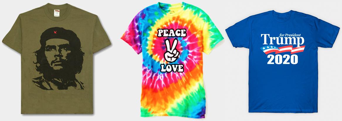 T-paidat-painatuksella-viestittelyn-yhteisunnallisen-vaikuutamisen-väline-teksti-kuva-muoti-väri