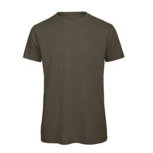B&C Inspire-T-Men-miesten puuvilla t-paita, väri-Khaki