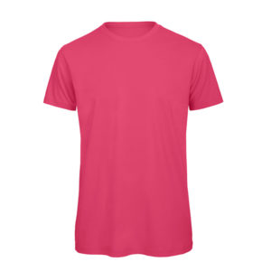 B&C Inspire-T-Men-miesten puuvilla t-paita, väri-Pinkki-Fuchsia