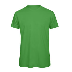 B&C Inspire-T-Men-miesten puuvilla t-paita, väri-Real Green-vihreä