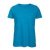 B&C Inspire-T-Women-naisten puuvilla t-paita, väri-Atoll-turkoosi