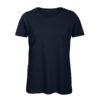 B&C Inspire-T-Women-naisten puuvilla t-paita, väri-Navy-tummansininen
