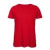 B&C Inspire-T-Women-naisten puuvilla t-paita, väri-Red-punainen
