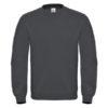 B&C-Cotton-Rich-Sweatshirt-Miesten-Collegepaita-Painatuksella-Anthracite