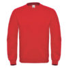 B&C-Cotton-Rich-Sweatshirt-Miesten-Collegepaita-Painatuksella-Fire-Red