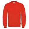 B&C-Cotton-Rich-Sweatshirt-Miesten-Collegepaita-Painatuksella-Fire-Red-Kirkas-Punainen