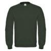 B&C-Cotton-Rich-Sweatshirt-Miesten-Collegepaita-Painatuksella-Forest-Green-Vihreä