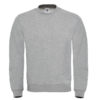 B&C-Cotton-Rich-Sweatshirt-Miesten-Collegepaita-Painatuksella-Heather-Grey