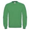 B&C-Cotton-Rich-Sweatshirt-Miesten-Collegepaita-Painatuksella-Kelly-Green