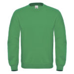 B&C-Cotton-Rich-Sweatshirt-Miesten-Collegepaita-Painatuksella-Kelly-Green