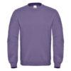 B&C-Cotton-Rich-Sweatshirt-Miesten-Collegepaita-Painatuksella-Millenial-Lilac-Violetti