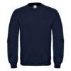 B&C-Cotton-Rich-Sweatshirt-Miesten-Collegepaita-Painatuksella-Navy-Tummansininen