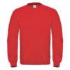 B&C-Cotton-Rich-Sweatshirt-Miesten-Collegepaita-Painatuksella-Red-Punainen