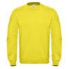 B&C-Cotton-Rich-Sweatshirt-Miesten-Collegepaita-Painatuksella-Solar-Yellow-Keltainen