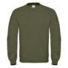 B&C-Cotton-Rich-Sweatshirt-Miesten-Collegepaita-Painatuksella-Urban-Khaki