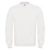 B&C-Cotton-Rich-Sweatshirt-Miesten-Collegepaita-Painatuksella-White-Valkoinen
