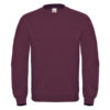 B&C-Cotton-Rich-Sweatshirt-Miesten-Collegepaita-Painatuksella-Wine-Viinipunainen