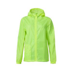 Clique Basic Rain Jacket unisex sadetakki painatuksella -huomionkeltainen