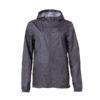 Clique Basic Rain Jacket unisex sadetakki painatuksella -meleerattu antrasiitti