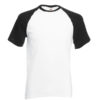 Fruit Of The Loom Baseball T pesäpallopaita-white-black