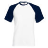 Fruit Of The Loom Baseball T pesäpallopaita-white-deep navy